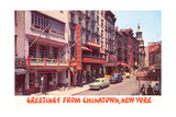 Greetings from Chinatown, New York Posters