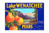 Lake Wenatchee Pear Label Poster