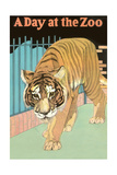Tiger, a Day at the Zoo Print