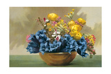 Yellow Ranunculus and Bluebells Posters