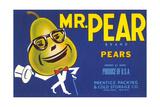 Mr. Pear Label Prints