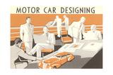 Motor Car Designing Posters