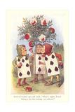 Alice in Wonderland, Painting Roses Print
