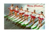 Women Water Skiers Art