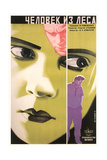 Russian Woman's Green Face Poster Kunst