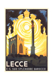 Travel Poster for Lecce Plakaty