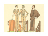 Fashion Illustration, Three Dresses Stampe