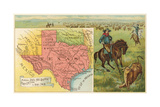Roping Longhorn, Map Poster