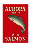 Aurora Red Salmon Poster