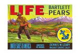 Life Pear Label Print