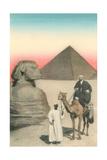 Man on Camel, Sphinx, Pyramid Prints