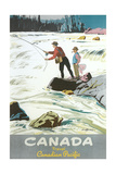 Travel Poster for Fishing in Canada Prints