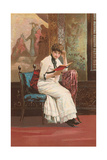 Woman Reading Book Prints