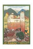 Morocco Travel Poster Kunstdrucke