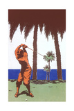 Golfing Amid Palm Trees Posters