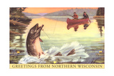 Greetings from Northern Wisconsin Poster