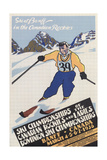 Skiing at Banff, Alberta Posters