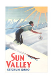 Sun Valley Travel Poster Póster