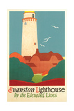 Evanston Lighthouse Poster Print