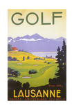 Golfing in Switzerland Prints