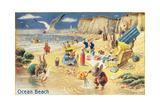 Rabbit Picnic, Ocean Beach Prints