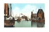 Harbor Scene, Buffalo Kunstdruck