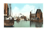 Harbor Scene, Buffalo Poster