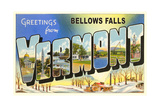 Greetings from Bellows Falls Print