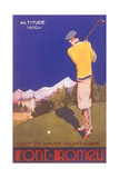 Golfing in the Alps Poster