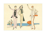 Vintage Haute Couture Beach Wear Art