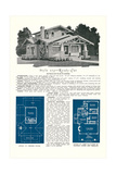 Rendering and Floor Plan of Craftsman House Posters