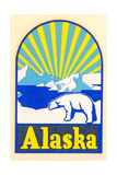 Alaska Decal, Polar Bear Print