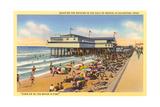 Beach at Galveston Prints