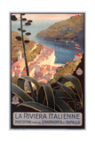 Travel Poster for Italian Riviera Art