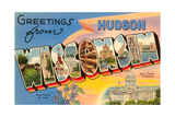 Greetings from Hudson, Wisconsin Print