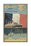 Ocean Liner Advertisement Art