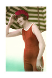 Woman in Old Fashioned Bathing Costume Prints