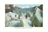 Pyramids of the Bossons Glacier, French Alps Posters