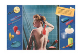 Variety of Plastic Shower Accessories Posters
