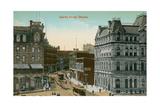 Vintage Downtown Ottawa, Canada Print