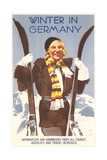 Winter in Germany Travel Poster Art