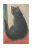 Suspicious Cat Poster