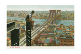 Overlooking the Brooklyn Bridge Prints