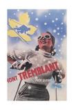 Skiing at Mont Tremblant, Quebec Kunst