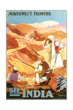 India Travel Poster, Northwest Frontier Prints