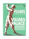 Golfer, Villars Hotel Prints