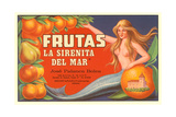 Fruit Crate Label, Mermaid Posters