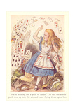 Alice in Wonderland, Flying Cards Print