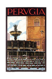 Travel Poster for Perugia Prints