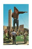 Big Cowboy Statue Art